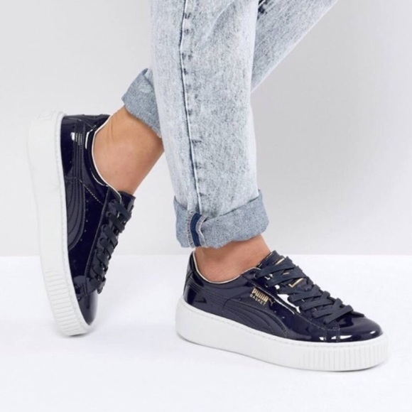 66f0eed593ae Puma Patent Leather Platform Sneakers
